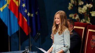 La Princesa Leonor en su primer discurso en los Premios Príncipe Asturias