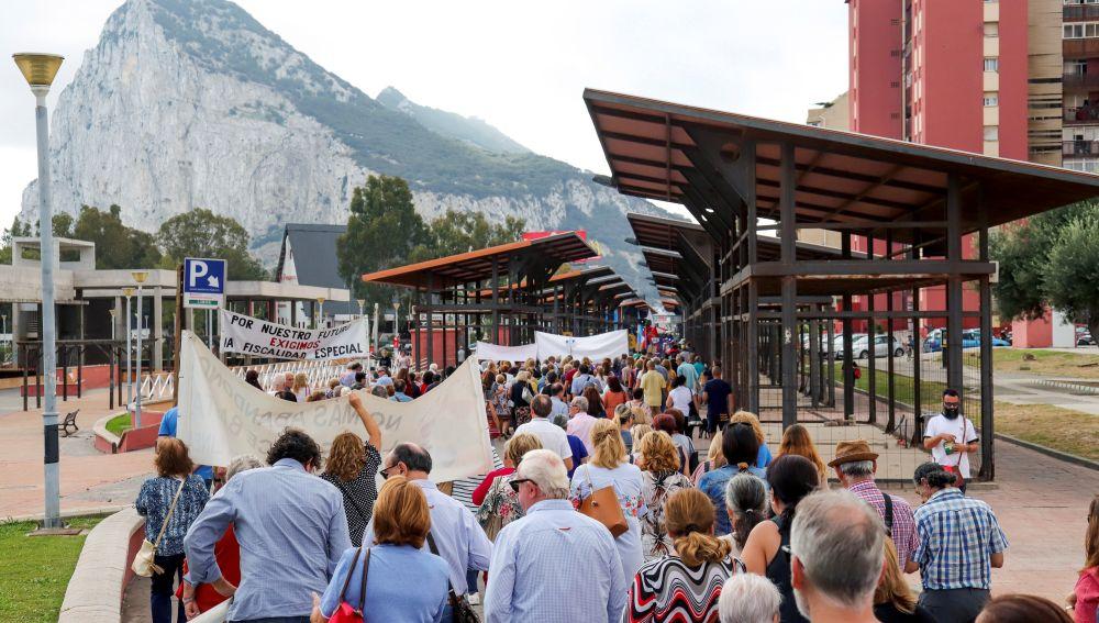 Vecinos protestan en Gibraltar