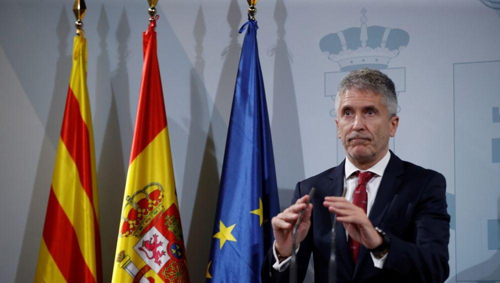 Fernando Grande-Marlaska ante los medios