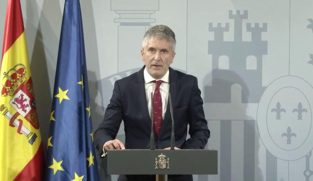 """Marlaska niega que estén """"desbordados"""" en  Cataluña"""