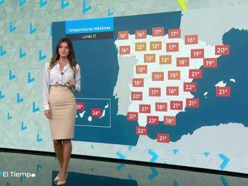 Llega el lunes con lluvias localmente fuertes al sur de la Comunidad Valenciana y bajan las mínimas