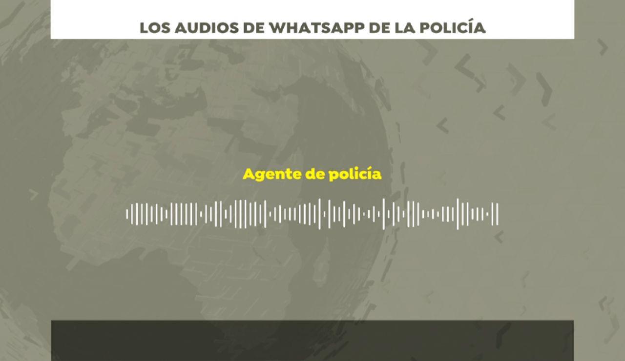 """Los audios de WhatsApp que denuncian el """"infierno"""" de los policías en Barcelona: """"Es una puta locura, los compañeros caen inconscientes"""""""
