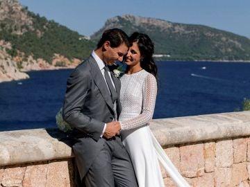 Rafa Nadal y Xisca Perelló, durante su boda