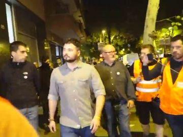 """Increpan a Gabriel Rufián al grito de """"botifer"""" en la manifestación de Barcelona"""