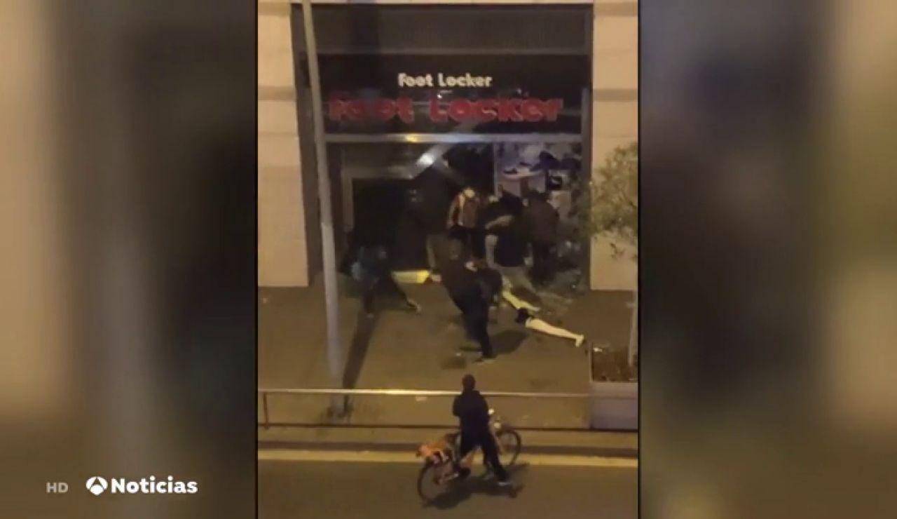 Saqueos y disturbios en Barcelona