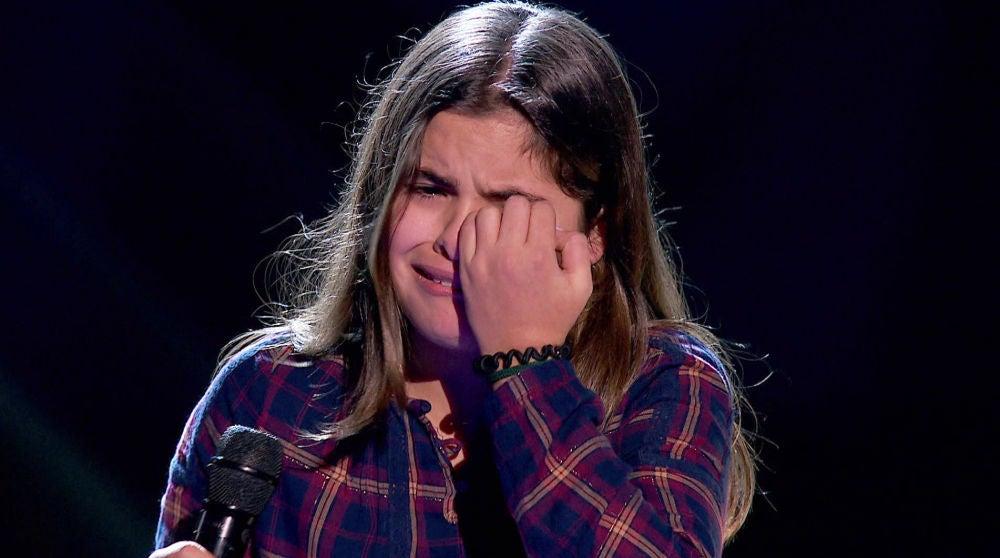 Una talent llora desconsoladamente tras la decisión de un coach en 'La Voz Kids'