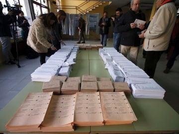 Imagen de un colegio electoral en las pasadas elecciones generales del 28A