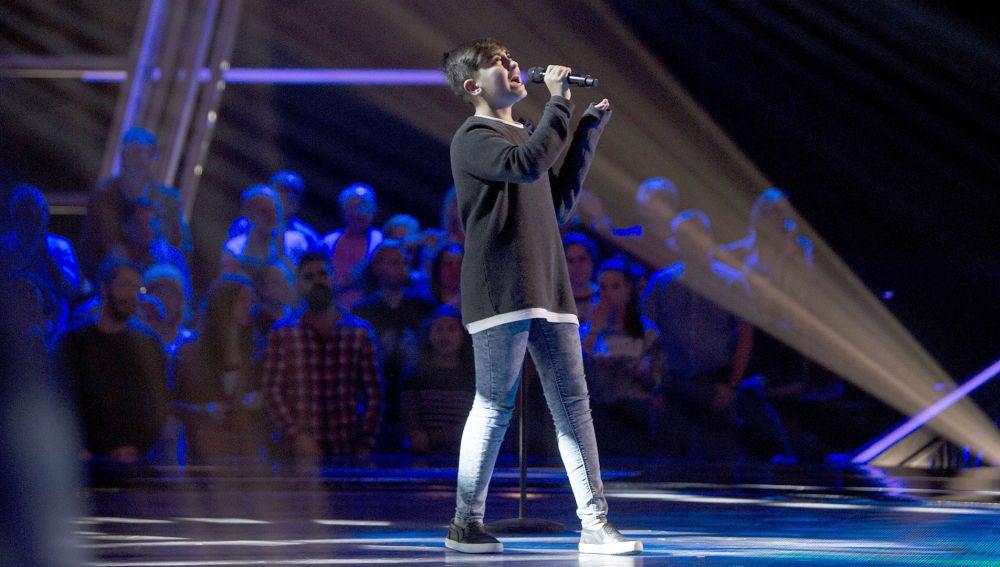 Actuación Marcos Díaz 'Stone cold' en las Audiciones a ciegas de 'La Voz Kids'
