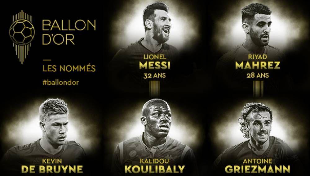 Nominados al Balón de Oro