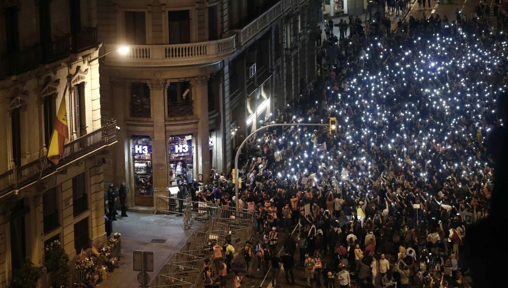 Concentración en Barcelona