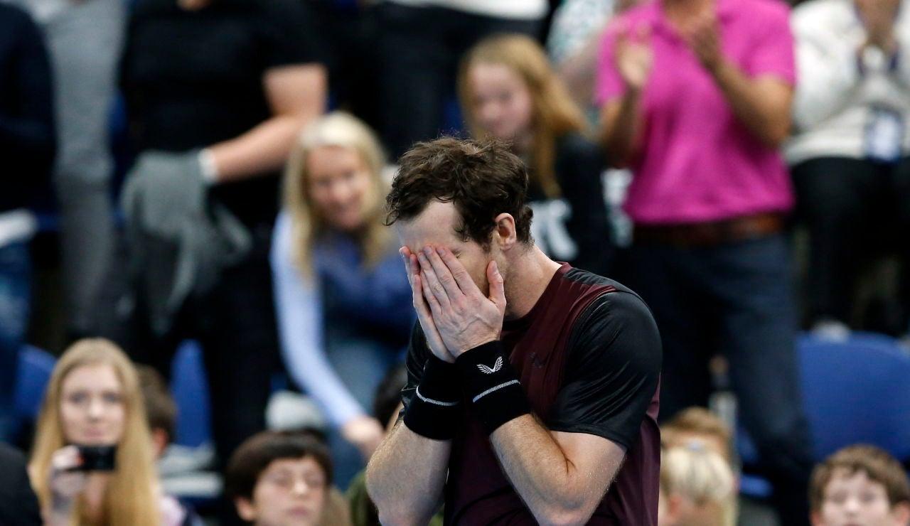 Andy Murray rompe a llorar tras ganar en Amberes