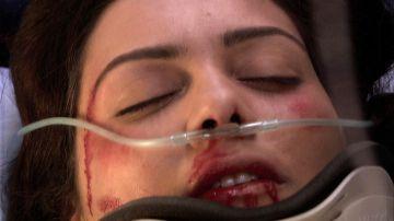 Sherezade recibe una brutal paliza