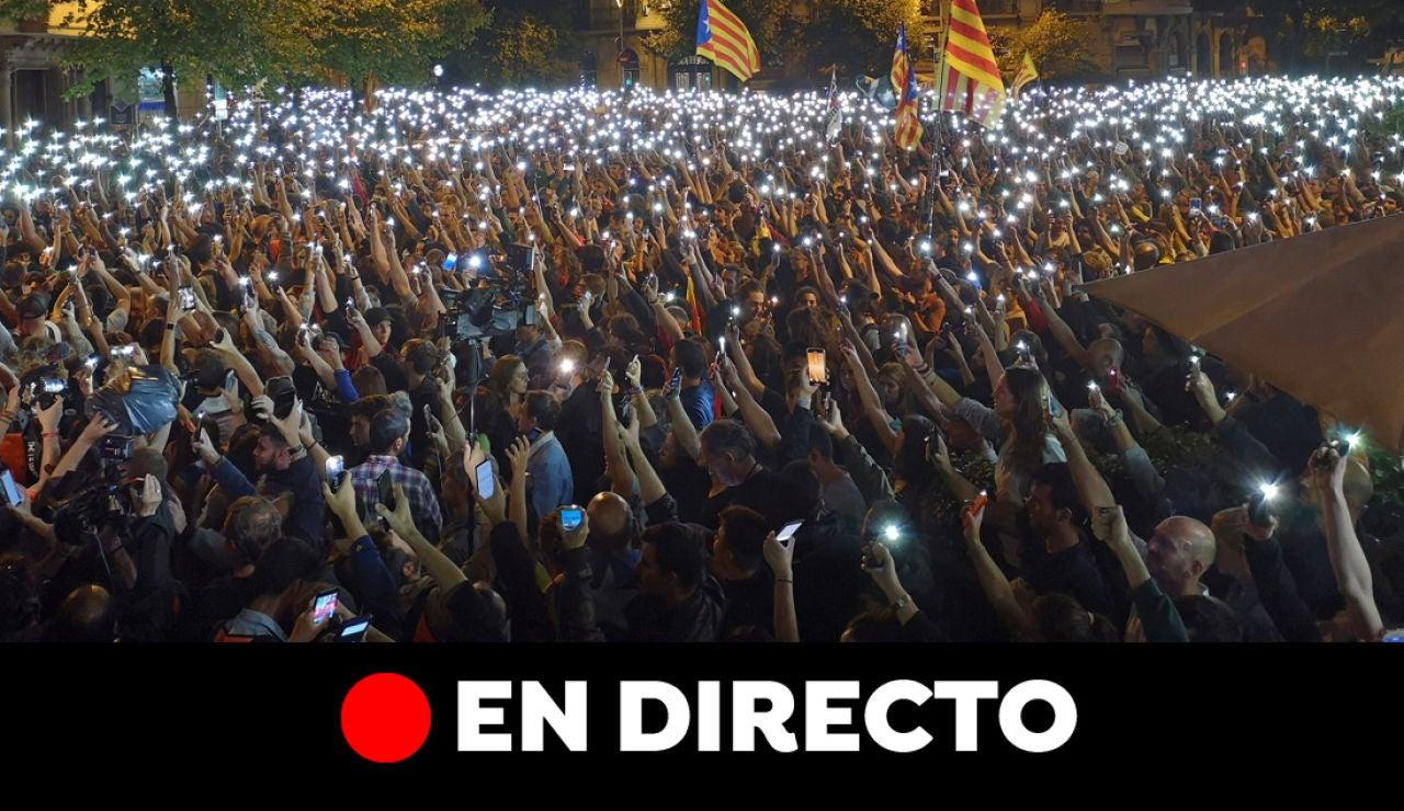 Última hora de Cataluña y las protestas de Barcelona, en directo