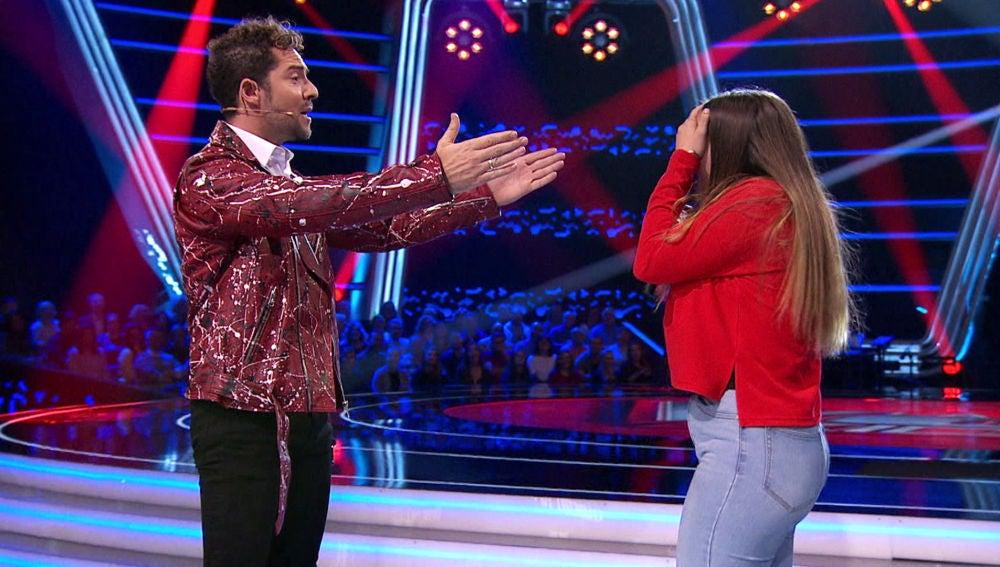 David Bisbal emociona a Giada Alessio cantándole el 'Cumpleaños Feliz' en 'La Voz Kids'