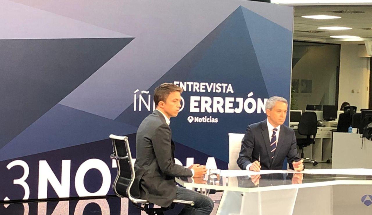 Entrevista a Íñigo Errejón en Antena 3 Noticias