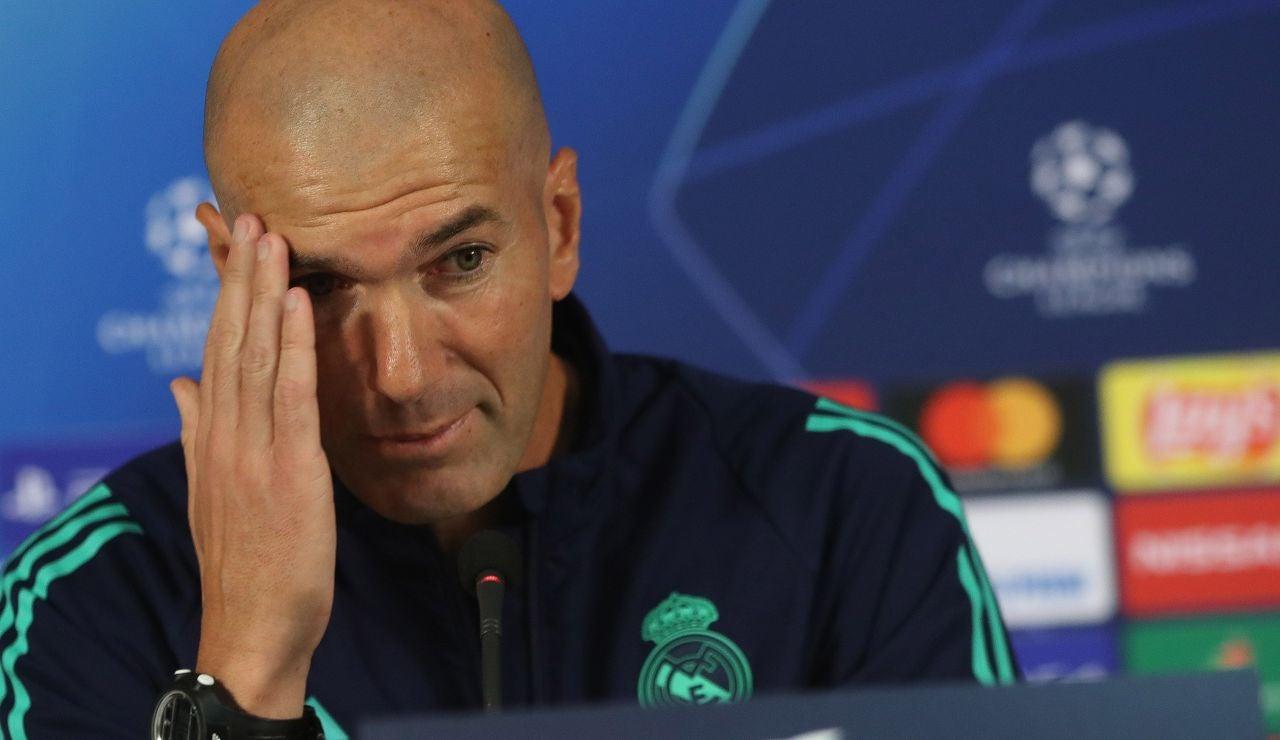 Zidane, en la rueda de prensa en Estambul previa al partido ante el Galatasaray.