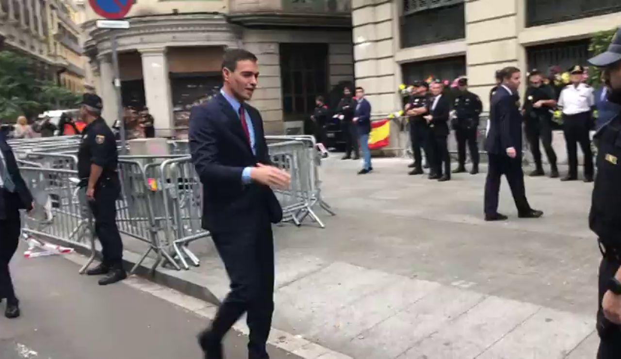 Sánchez llega a Barcelona