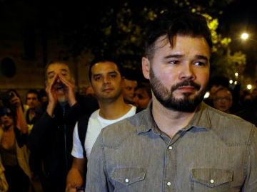 Gabriel Rufián abucheado por independentistas en una manifestación