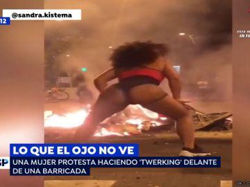 'Twerking' para protestar.