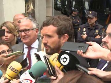 Casado exige a Sánchez que aplique la ley y no negocie con Torra
