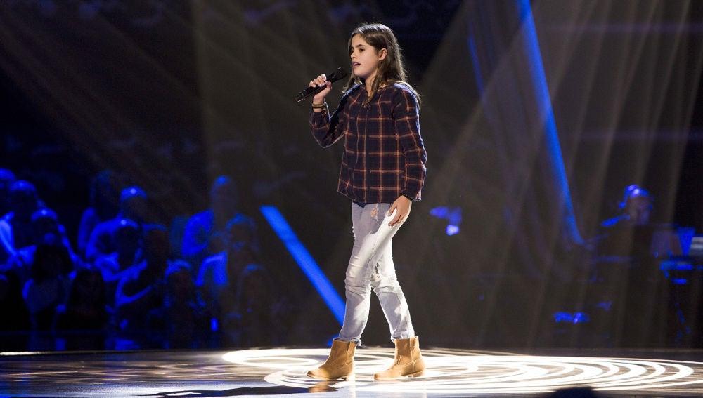 Actuación Marta Pérez 'You are the reason' en las Audiciones a ciegas de 'La Voz Kids'