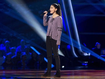 Actuación Irene Barrera 'Va todo al ganador' en las Audiciones a ciegas de 'La Voz Kids'