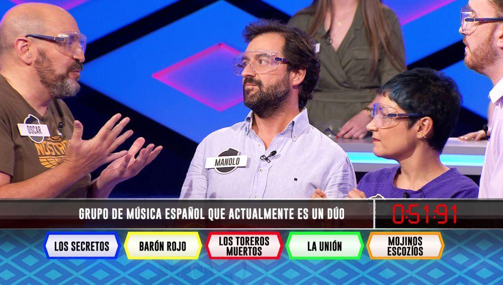 Un dúo musical español pone en apuros a 'Los dispersos' en '¡Boom!'