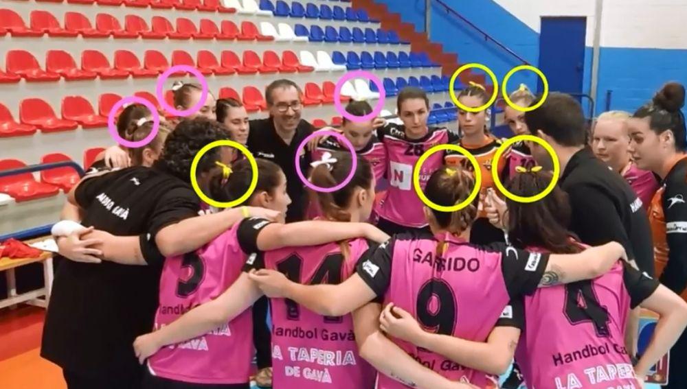 Las jugadoras del Handbol Gavà