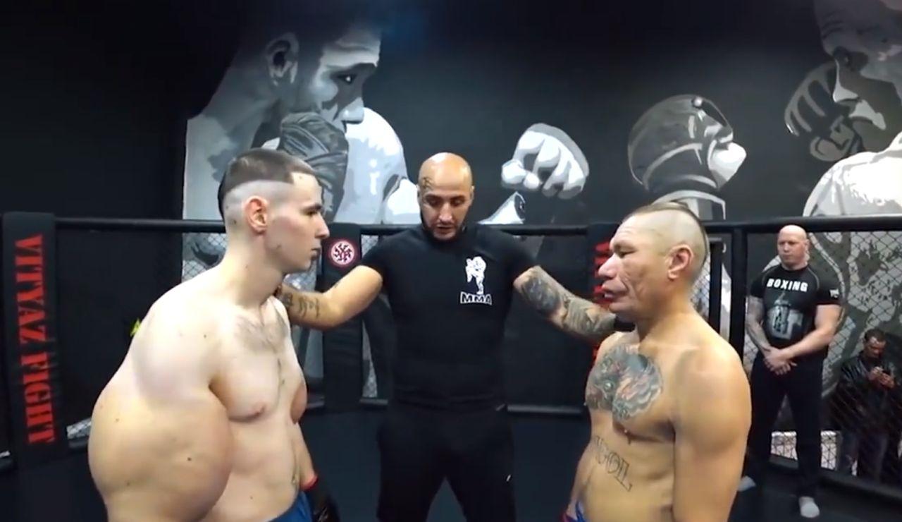 El 'Popeye ruso', debutando en la MMA