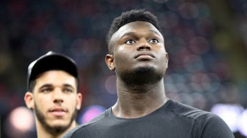 Zion Williamson en la cancha