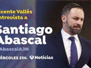 Santiago Abascal, en Antena 3 Noticias