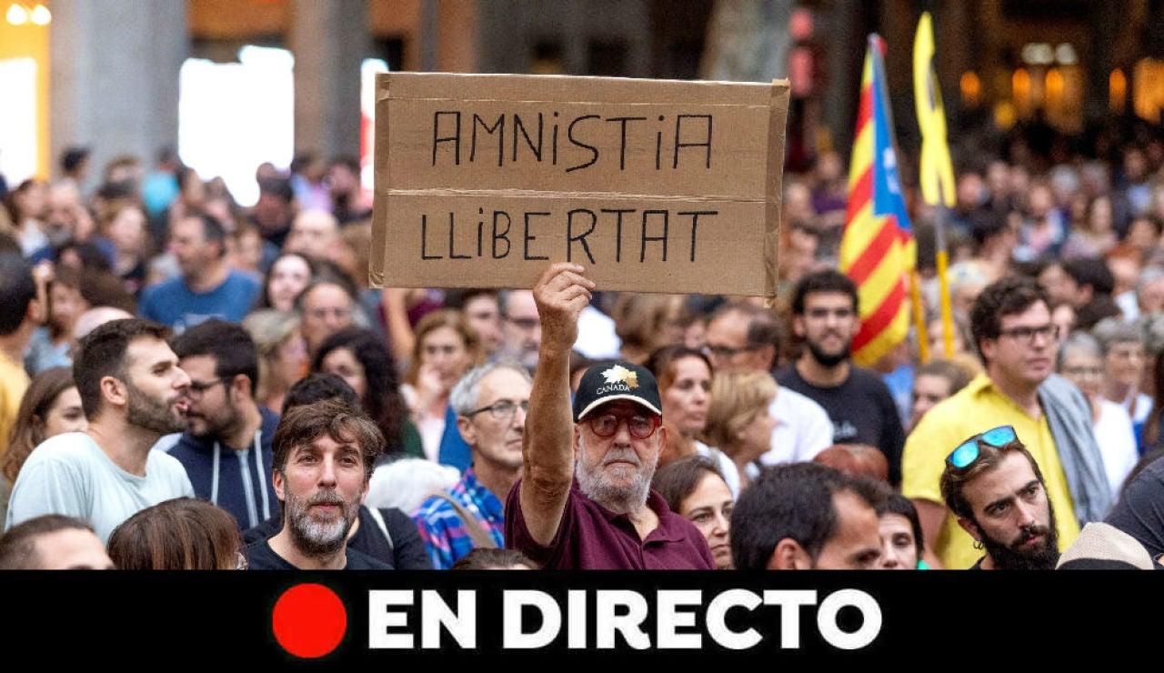 Última hora de Calatula y protestas en Barcelona hoy, en directo
