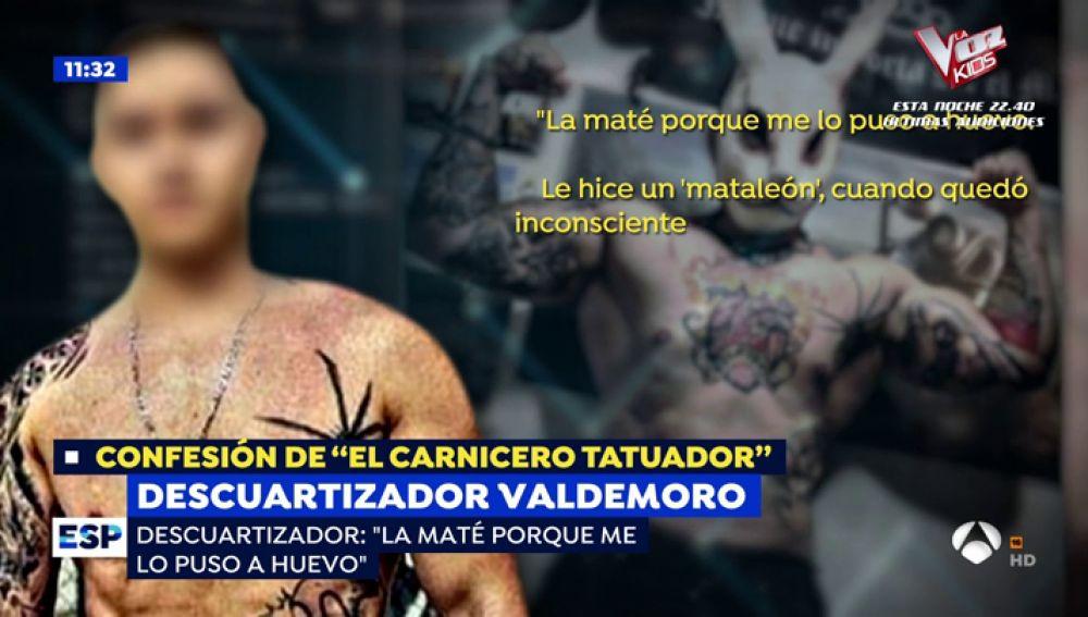 La confesión del 'carnicero tatuador'