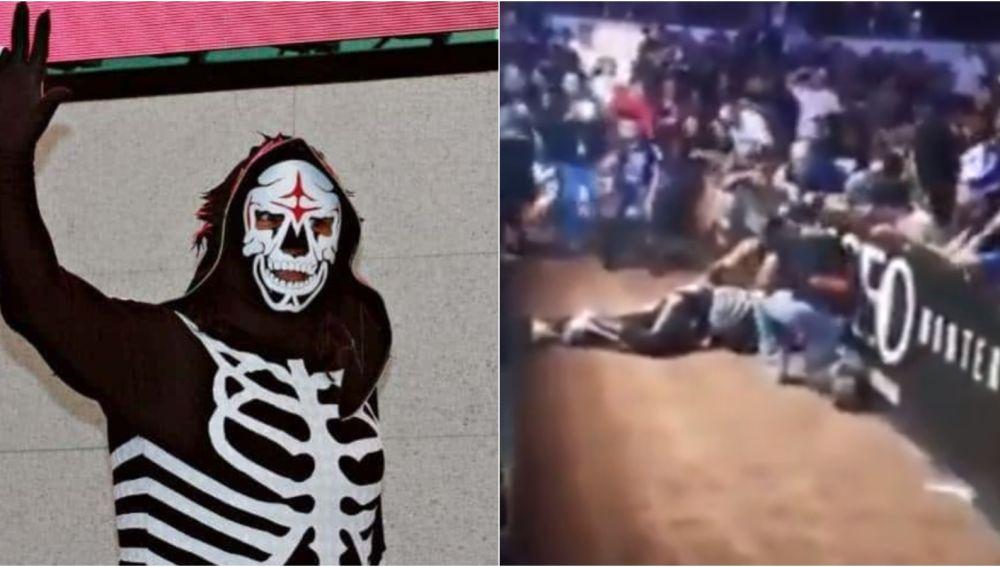 El luchador 'La Parka', grave tras una caída en un combate