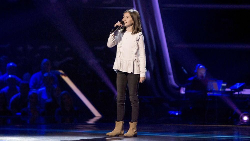 Actuación Claudia Martínez 'This is me' en las Audiciones a ciegas de 'La Voz Kids'
