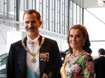 Los reyes de España, testigos de la entronización de Naruhito