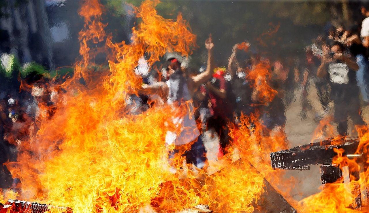 Nueva jornada de protestas en Santiago de Chile