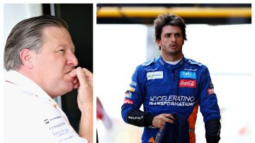 Zak Brown, responsable de McLaren y Carlos Sainz