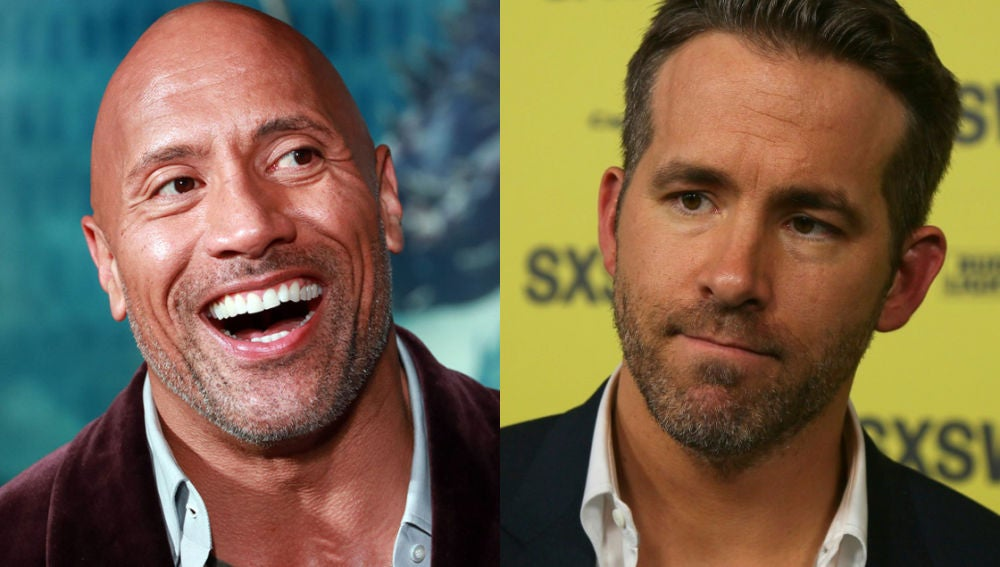 Dwayne Johnson y Ryan Reynolds