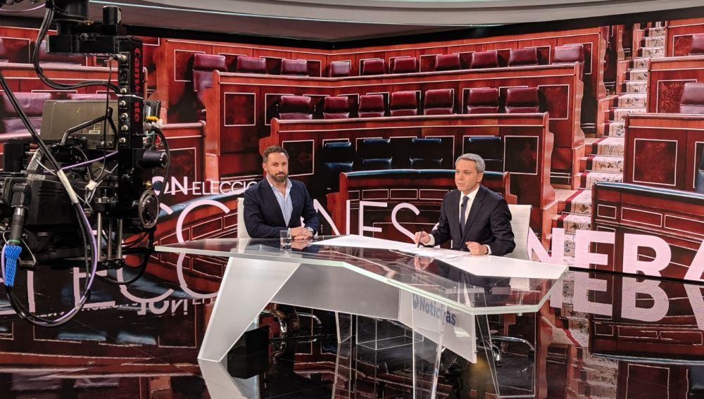 Santiago Abascal en una entrevista en Antena 3 Noticias