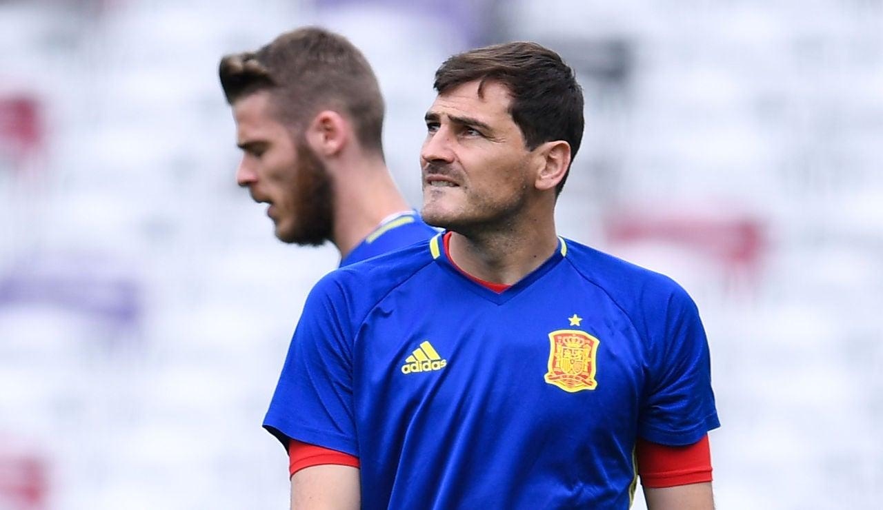 Iker Casillas con la selección española