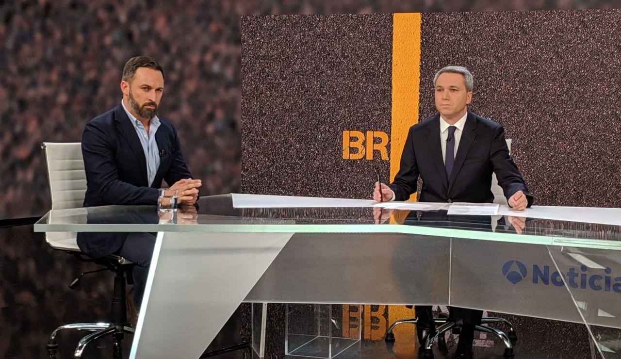 Santiago Abascal en Antena 3 Noticias