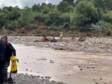 Hallan el coche de los dos desaparecidos durante el temporal en L'Espluga de Francolí (Tarragona)