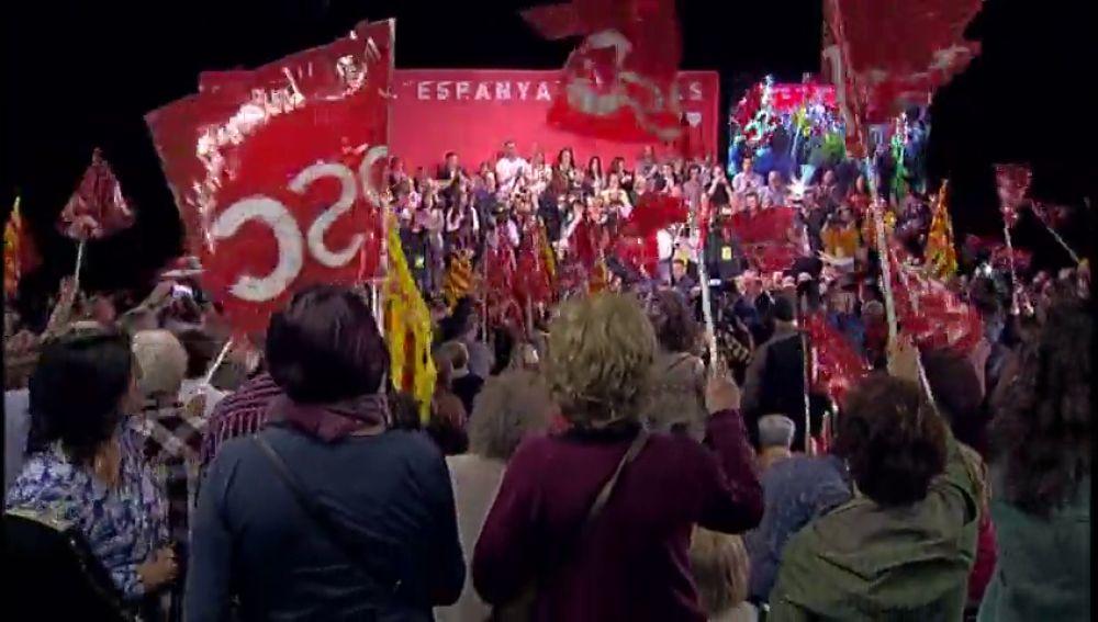 La campaña para las elecciones generales, entre Franco y Cataluña