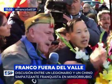Franco fuera del Valle de los Caídos.