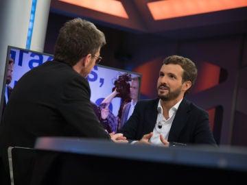 """Pablo Casado en 'El Hormiguero 3.0' sobre los pactos: """"Mi socio preferente es Ciudadanos"""""""