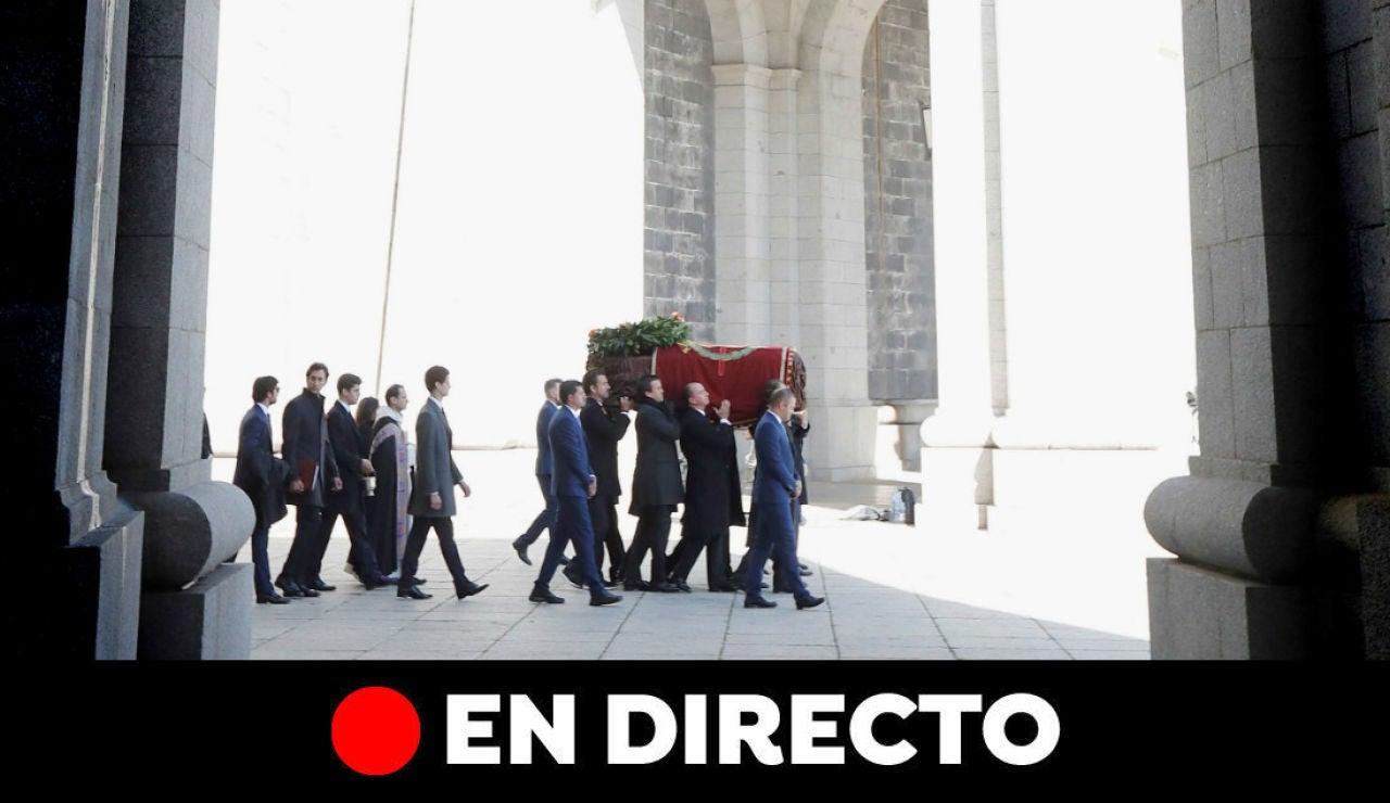 Exhumación de Franco: Última hora de la inhumación de Franco en Mingorrubio, en directo