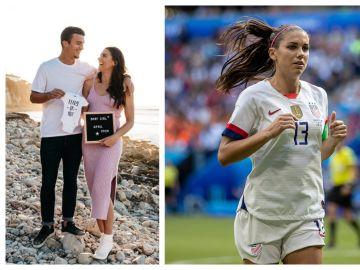La futbolista Alex Morgan anuncia su embarazo