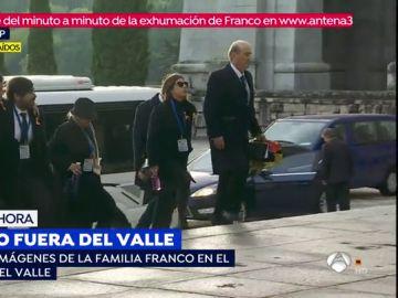 Llegada de los Franco al Valle de los Caídos