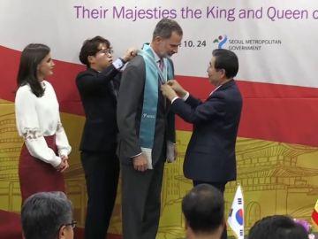 Los reyes, ciudadanos honorarios de Seúl